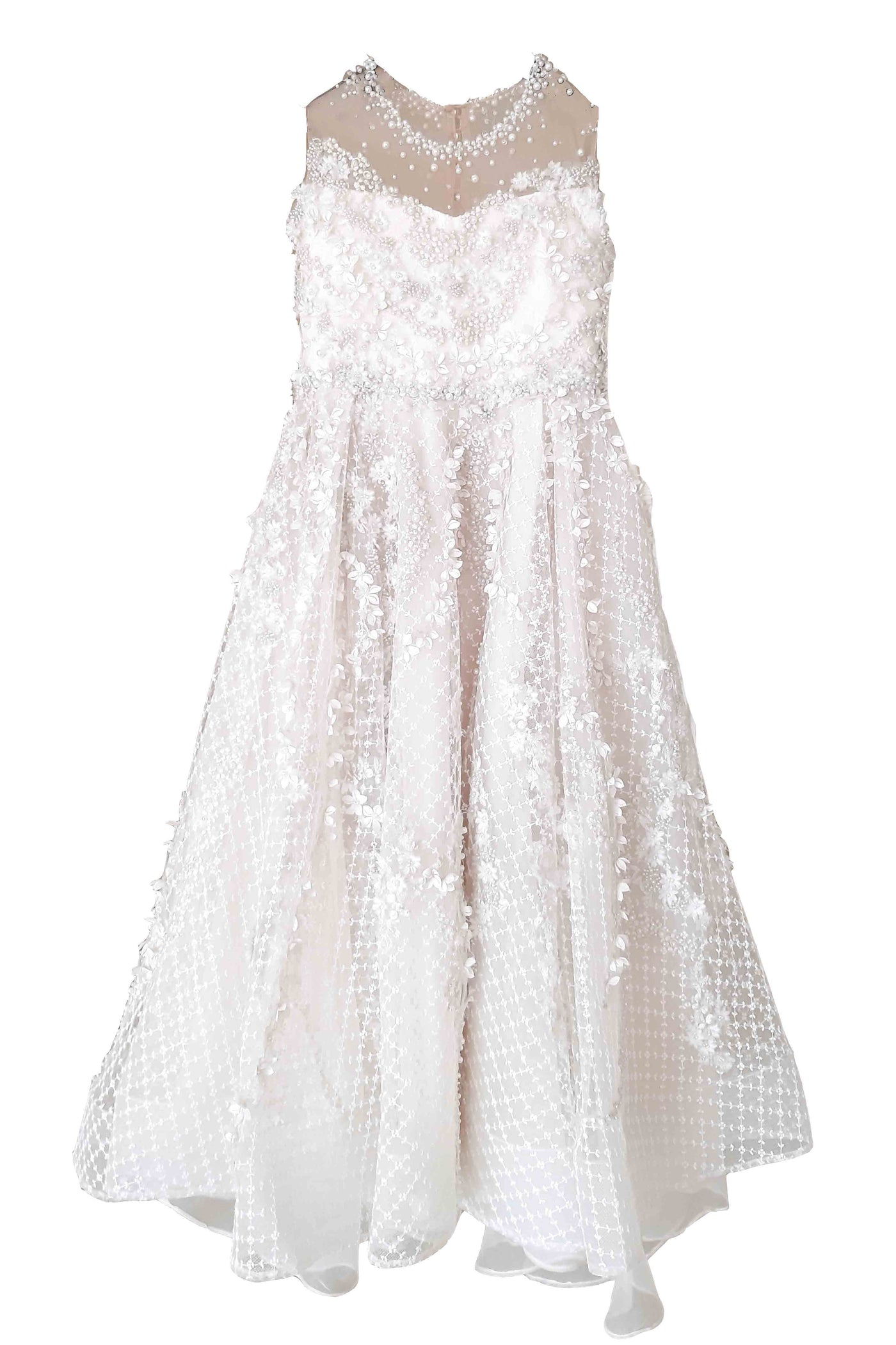 Rent : Diana Halim - White A Line Gown With Pearls And Bow