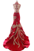 Buy : Albert Yanuar - Red Cheongsam Embroidery Mermaid Gown