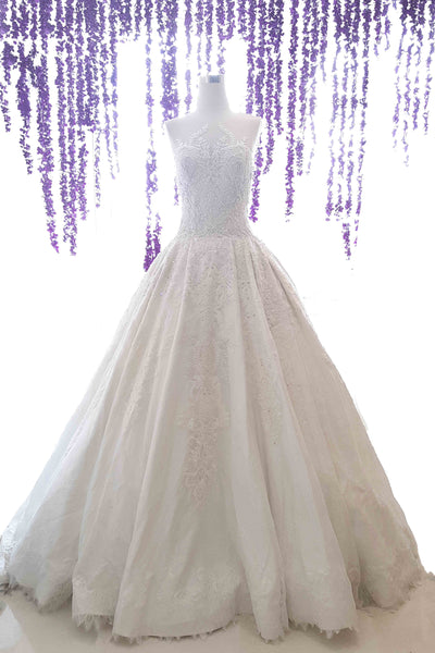 Rent: Albert Yanuar - Sweetheart Embroidered Ball Gown