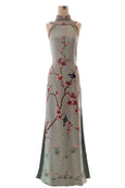 Buy : Liliana Lim - Blue Cheongsam Gown