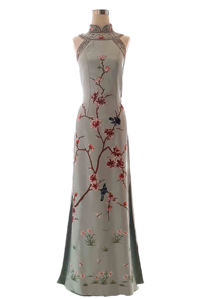 Rent : Liliana Lim - Blue CheongSam Gown