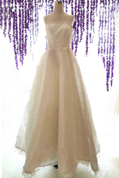 Rent : Adeline Esther - Strapless Wedding Gown With Cheongsam Cape