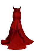 Rent: Adrian Gan Red Strapless Pleated Mermaid Gown