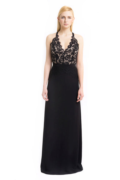 Aijek - Buy: Black Drifter Lace Maxi-The Dresscodes - 1