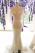 Rent: ANAZ Long Sleeves Mermaid Backless Wedding Gown