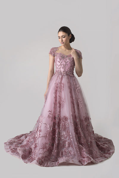 Angela Prisa - Buy: Pink Ball Gown-The Dresscodes - 1