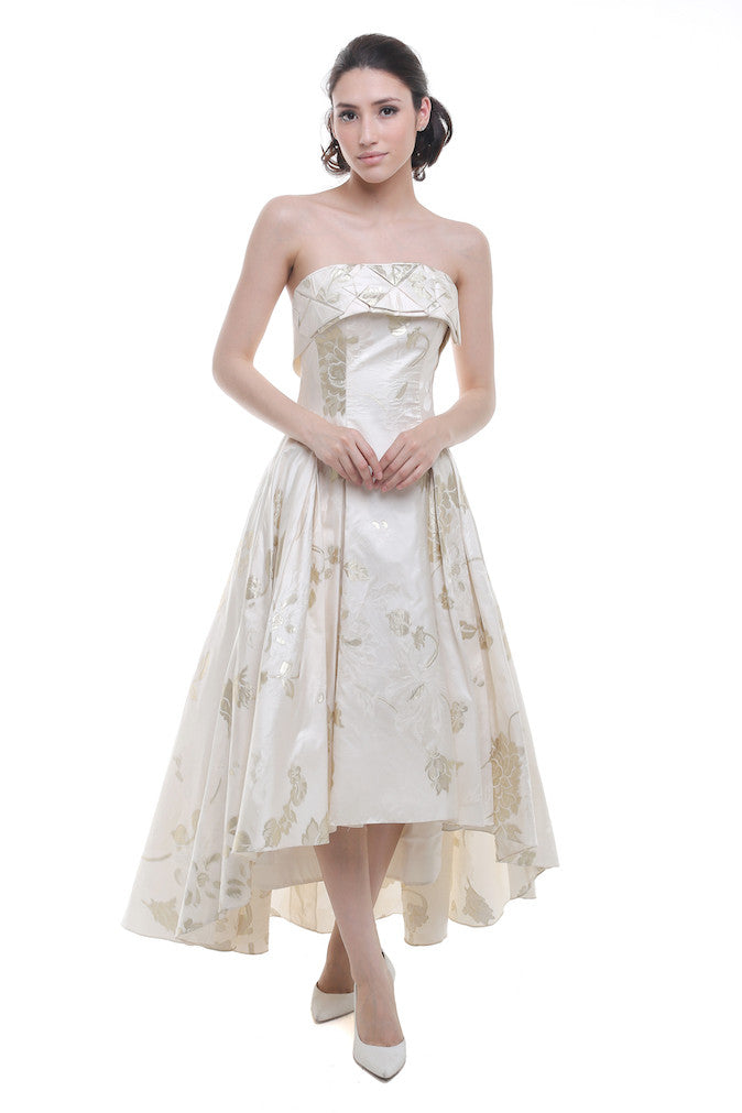 White Gold Gown – Fashion design images