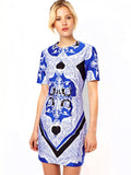 ASOS - Buy: Mini Blue Scarf Print-The Dresscodes - 1