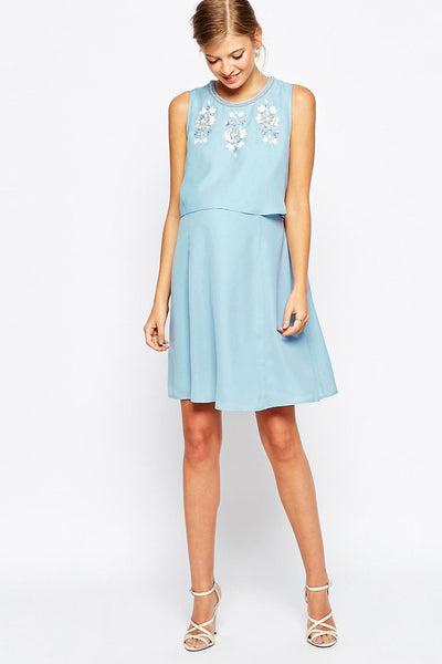 ASOS Maternity - Rent: ASOS Maternity Double Layer Skater Dress-The Dresscodes - 1