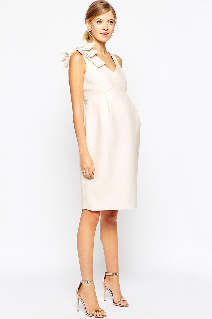 ASOS Maternity - Buy: ASOS Maternity Pencil Dress with Bow Detail-The Dresscodes - 1