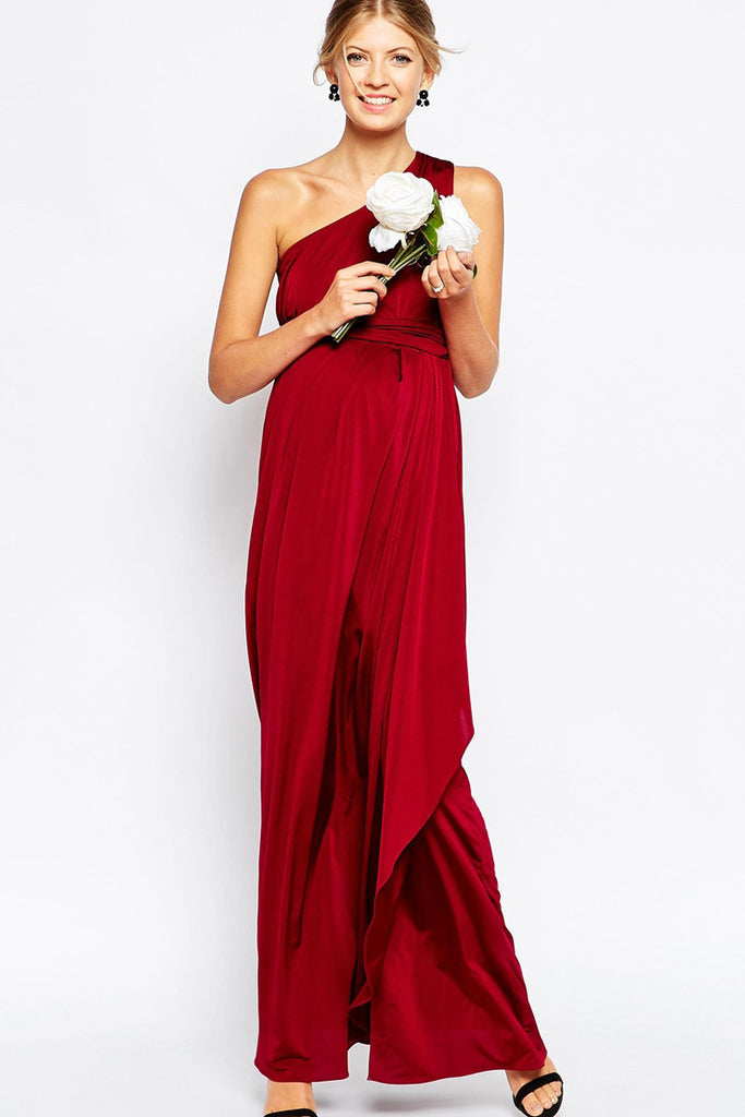 b9578ba7172b2 ASOS Maternity - Buy: ASOS Maternity Red One Shoulder Maxi Dress-The  Dresscodes -