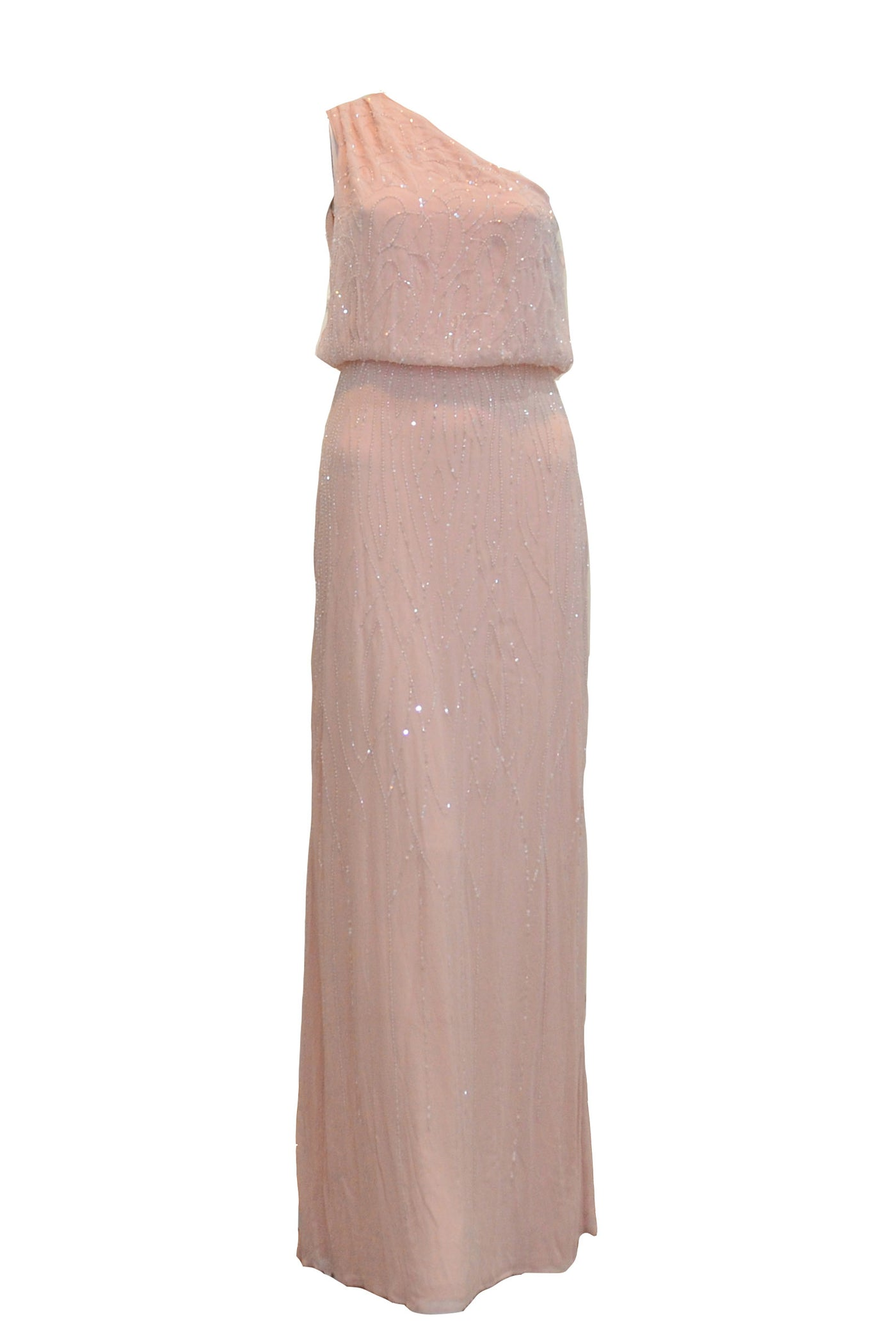 Rent: ASOS - One Shoulder Peach Sequin Dress