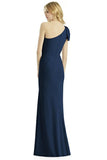 Rent: After Six - One Shoulder Navy Maxi Dress