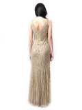 Aidan Mattox - Rent: Golden Diamond Sequin Gown-The Dresscodes - 2