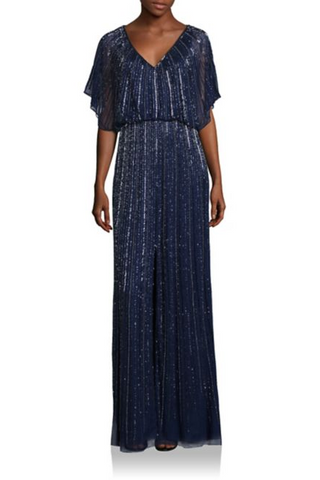 Buy: Aidan Mattox Embellished Front Slit Dress