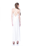Aijek - Rent: Aijek White Drifter Lace Maxi Dress-The Dresscodes - 2