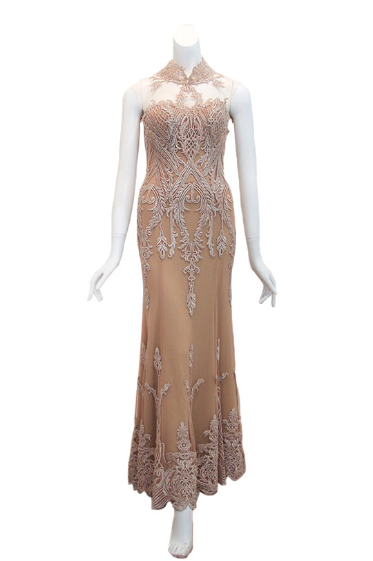 Buy: Albert Yanuar Pink Cheong Sam Gown