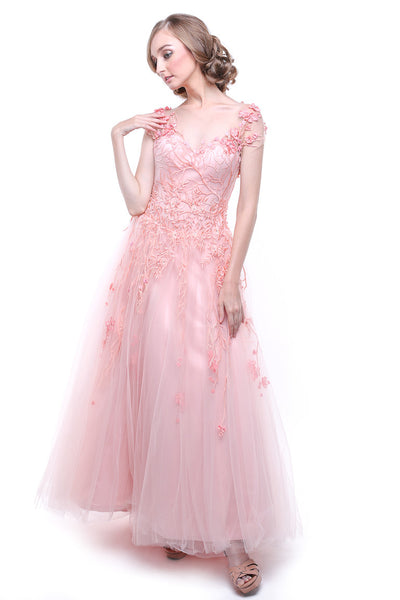 Albert Yanuar - Rent: Albert Yanuar Pink Sakura Tulle Gown-The Dresscodes - 1