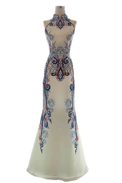 Rent : Albert Yanuar - CheongSam Printed Long Dress