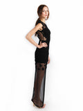 Ali Charisma - Rent: Ali Charisma Black Tulle Dress with Back Slit-The Dresscodes - 3