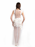 Ali Charisma - Rent: Ali Charisma White Sequin & Lace Dress-The Dresscodes - 2
