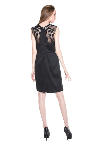 Alphonso - Rent: Alphonso Black Lace Cocktail Dress-The Dresscodes - 1