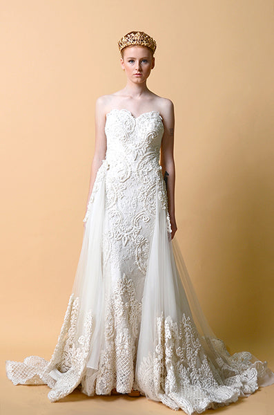 Rent: Anaz Khairunnaz A-Line Strapless Wedding Gown