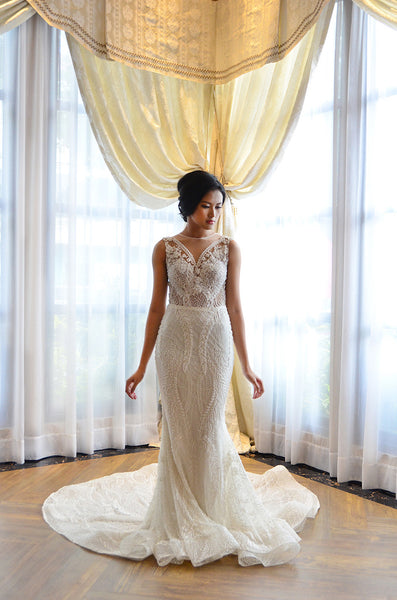 Rent: Anaz White Mermaid Wedding Gown