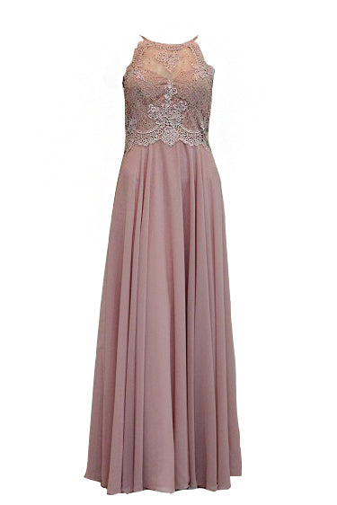 Sale : Angel Forever Pink Lace Satin Dress
