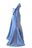 Rent: Anrini Polim - One Shoulder Blue Strapless Satin Gown with Bow