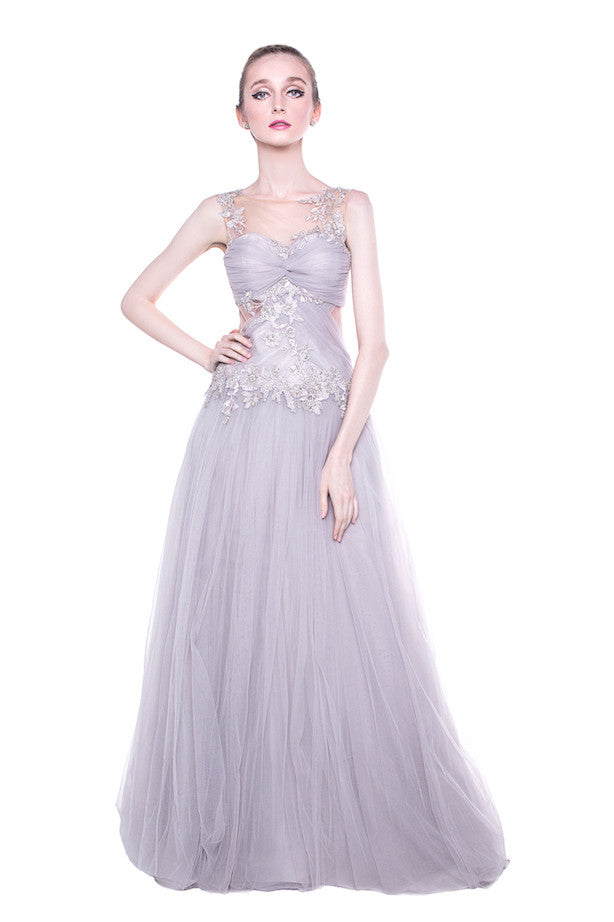 Anrini Polim - Buy: Lavender Tulle Gown-The Dresscodes - 1