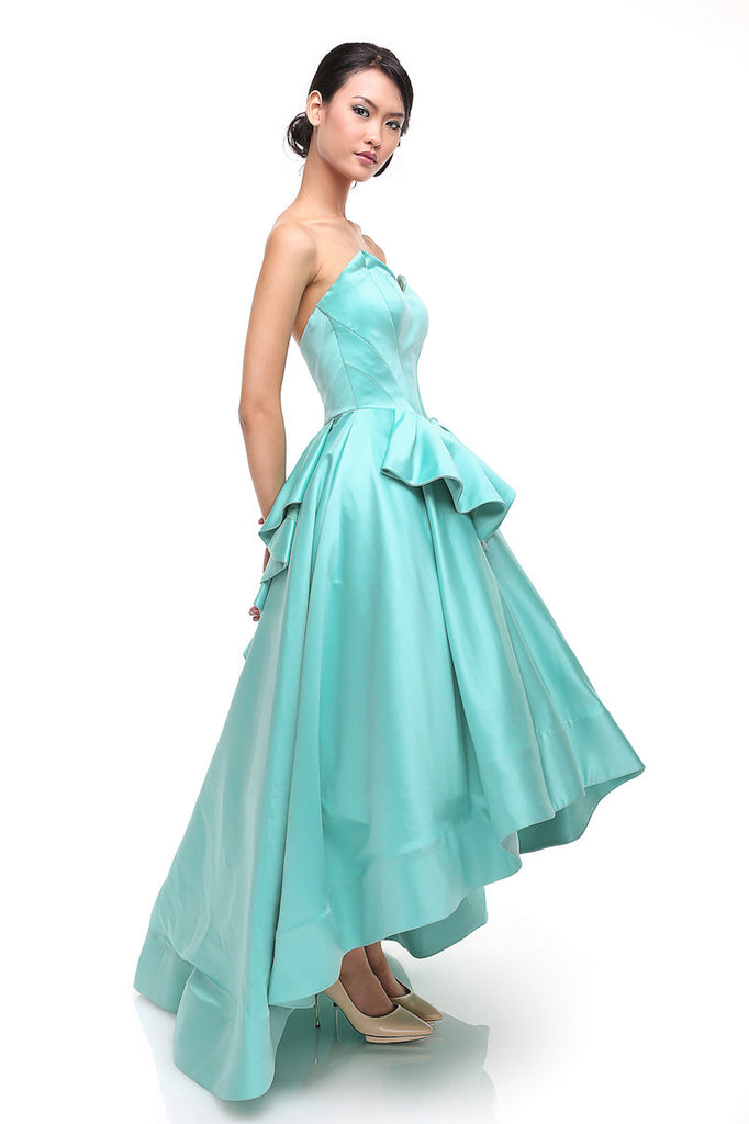 Anrini Polim - Buy: Tosca High Low Satin Gown-The Dresscodes - 1