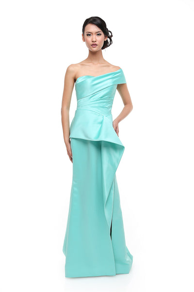 Anrini Polim - Rent: Anrini Polim Tosca One Sleeve Off Shoulder Satin Gown-The Dresscodes - 1