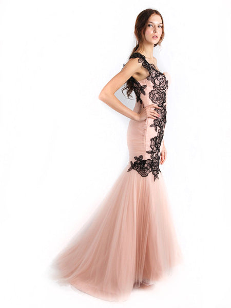 Anrini Polim - Rent: Anrini Polim Pink and Black Mermaid Gown-The Dresscodes - 1