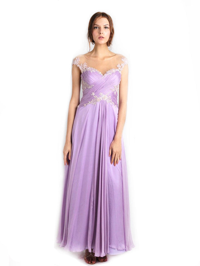 Anrini Polim - Buy: Violet Lace Gown-The Dresscodes - 1