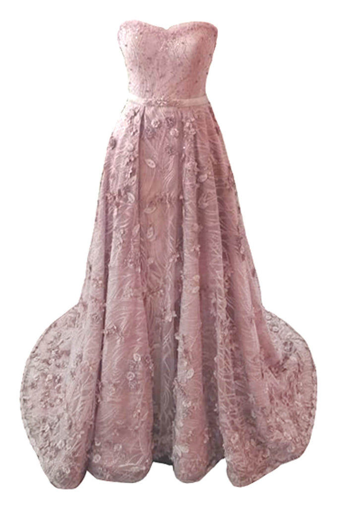 Sale : Atelier Maharani Nude Pink Sweetheart Flower Gown