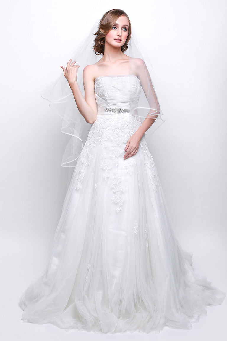 Avenue Diagonal - Rent: Avenue Diagonal Spanish A-line Wedding Gown-The Dresscodes - 1