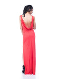 BCBGMaxazria - Rent: BCBG Lena Draped Coral Maxi-The Dresscodes - 3