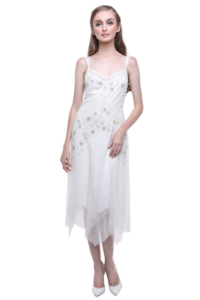 BCBGMaxazria - Buy: BCBG White Flapper Dress-The Dresscodes - 1