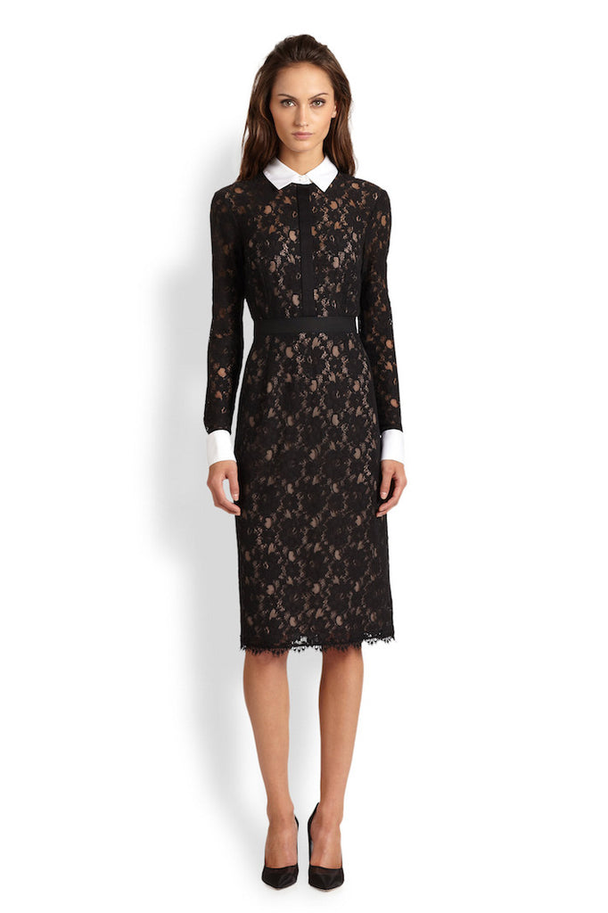 BCBGMaxazria - Buy: Olga Fitted Lace Shift Dress-The Dresscodes - 1