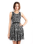 BCBGMaxazria - Buy: Talulah Pleated Jacquard-The Dresscodes - 1