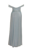 Sale: Biyan Off-Shoulder Pleated with Slit Gown