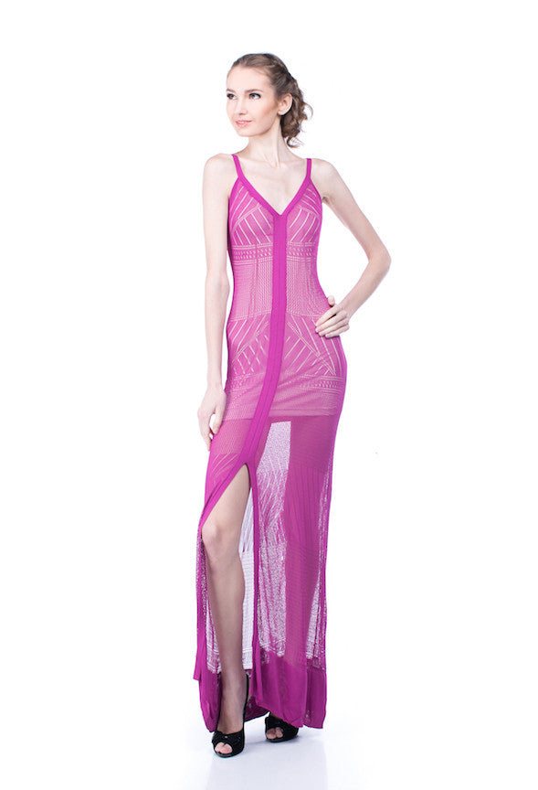 Bebe - Buy: Stretch Knit Maxi Dress-The Dresscodes - 1