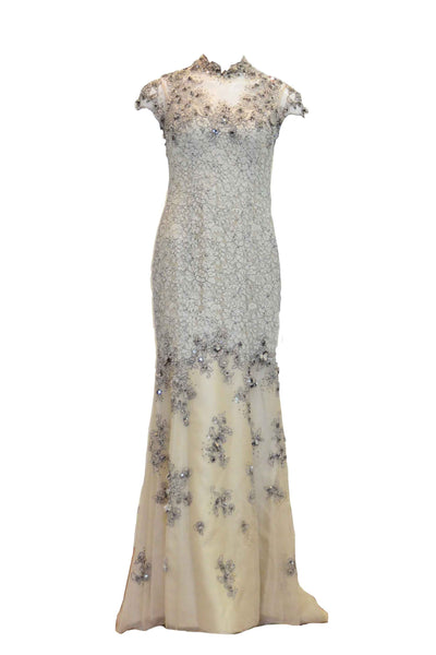 Rent: Biyan Cream Cheongsam Lace Gown