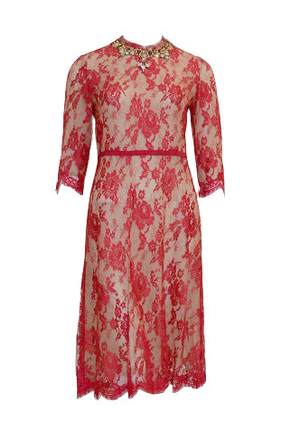 Rent: Biyan Red Lace Cheongsam Dress