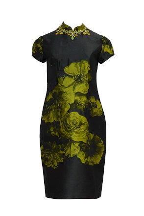Rent: Biyan - Flower Printed Cheongsam Dress