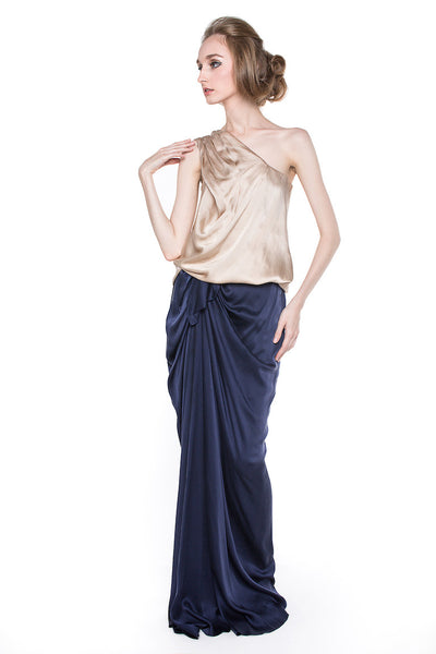 Biyan - Rent: Biyan Two Piece Silk Satin Dress-The Dresscodes - 1