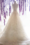 Buy: Bramanta Wijaya - V Neck A Line Wedding Ball Gown