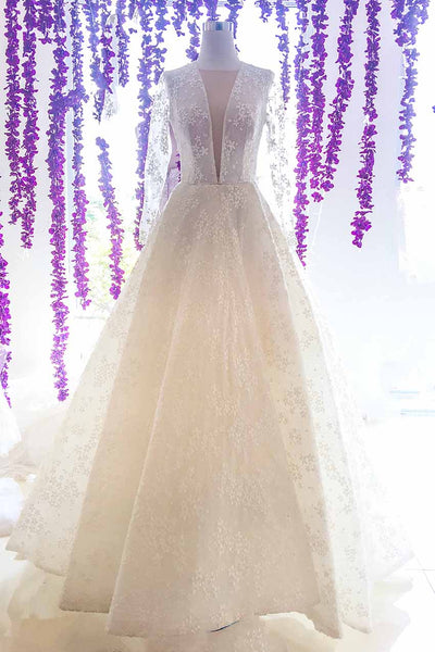 Rent : Bramanta Wijaya - V Neck A Line Wedding Ball Gown