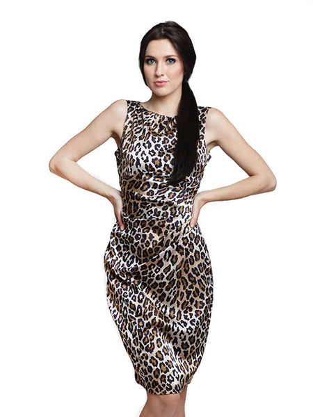 Cache - Rent: Cache Leopard Sheath Dress-The Dresscodes - 1